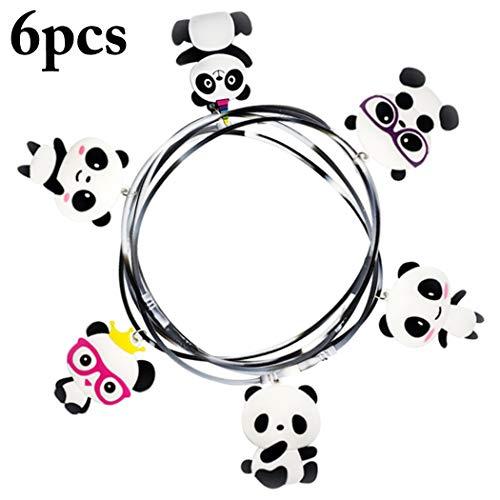 Joyibay 6pcs collana per bambini panda creativo collana con ciondolo per decorazioni per feste