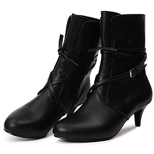 Femmina scarpa Da donna Grande tubo Negli stivali Le signore Tacco alto Negli stivali Stivaletti Donna , black , 34 BLACK-35