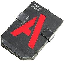 Bonum - Plantillas de letras A-Z (27 piezas, 80 mm, juego completo en DIN 1451, fabricado en Alemania)