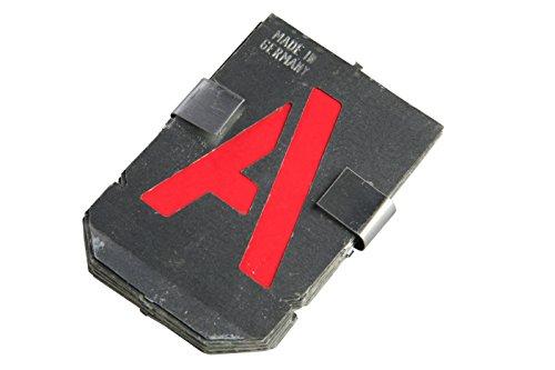 Bonum 936837 Signierschablonen, Buchstaben-Set groß, A-Z