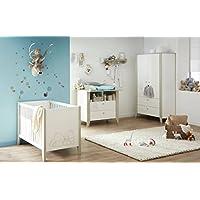 """Preisvergleich für Demeyere 114804 Kinderbett 60 x 120 cm """"OURSON"""", MDF, weiß / beige, 127 x 67 x 82 cm"""