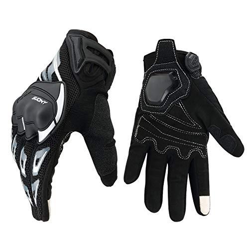 Guanti Moto Estivi Touchscreen, Guanti Traspirante Antiscivolo per KTM Motocicletta Quad aperto ATV e Altri Sport All' - L
