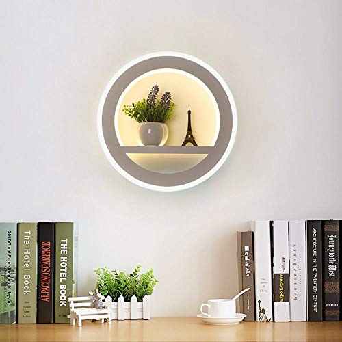 LUOLONG Modern Creative Wall Light,LED Wall Lamp Dimmable Modern Bedroom Living Room Wall Light With Flower And Tower Segment 2.4G RF Remote Control AC220V 29W,Non-Dimmable,Warm(14W) Cool(15W)