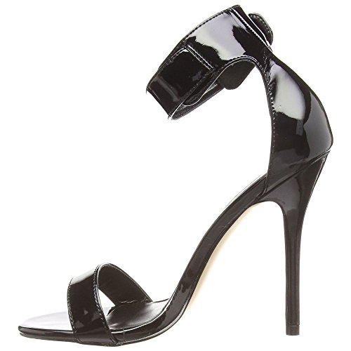 Sandali Dito Blk Pleaser Pat Flangia 10 Donna dBxqIw