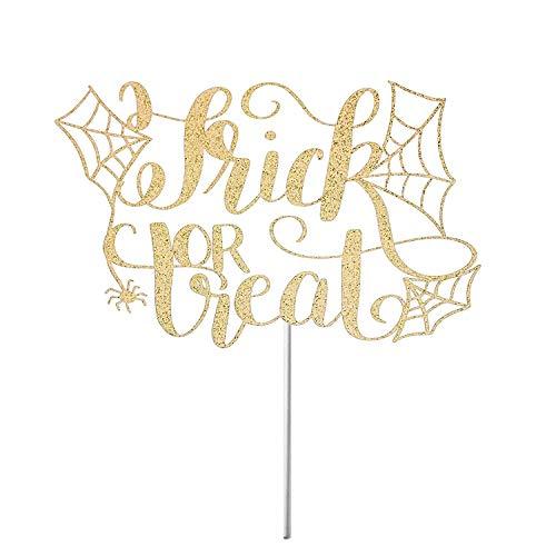 ochzeit Happy Halloween Spinnen Wed Herbst Party Dekoration Halloween gruselige Kuchen Lustige Braut Bräutigam Hochzeit Kuchen Topper Geschenke ()