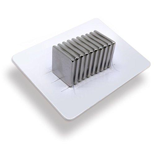10 x Neodym-Magnete als Magnet-Quader in 20 x 20 x 2 mm, vernickelt (NiCuNi)   Haftkraft ca. ~4,1 kg   10 Quadermagnete stark in N52 (Dekorative Magnet-board)