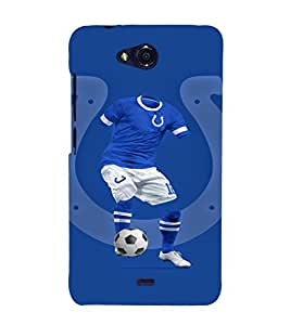 EPICCASE football fool Mobile Back Case Cover For Micromax Canvas Play Q355 (Designer Case)