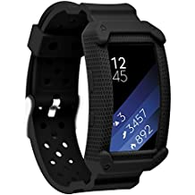 Greatfine Samsung Gear Fit2 Correa, muñequera Deportiva Watch Band de reloj Pulsera de Reemplazo Correa para Samsung Gear Fit 2 SM-R360 Smart Watch (Black)