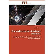 A la recherche de structures stellaires: des bords du disque Galactique au halo de la galaxie d'Andromède (Omn.Univ.Europ.)