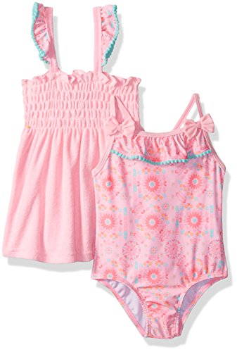 Baby Buns Baby Girls Tribal Cutie Terry Cover up Swim Set