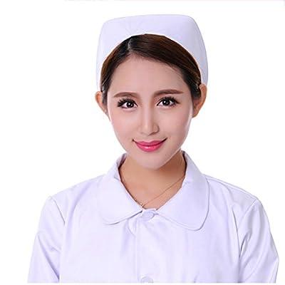 Tinksky Accessoires de costumes infirmière Chapeau Casquette bandeau Cosplay chapeau infirmière, cadeau pour femmes