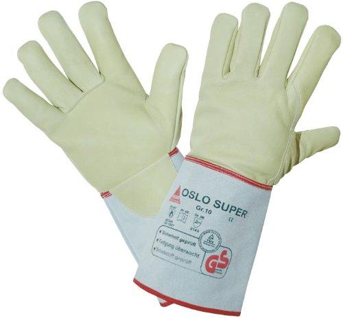 Schweißer-Handschuhe OSLO-SUPER - Rindnabenleder - TÜV GS