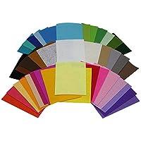 SMARTRICH Cuadrados de Costura del Arte de DIY no Tejidos, Remiendo de la Hoja de la Tela de Fieltro Grueso Suave de 40 Colores