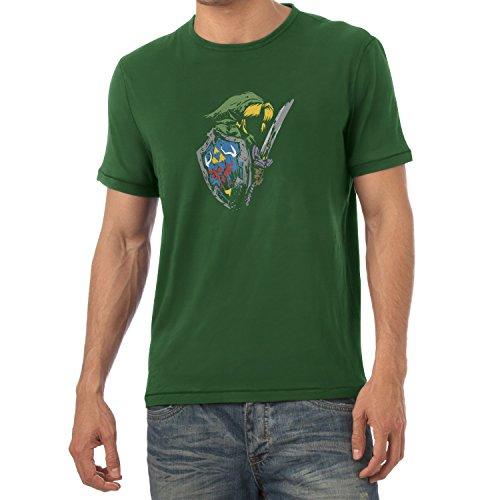 NERDO - Rough Painting Link - Herren T-Shirt Flaschengrün