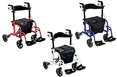 Aidapt Duo Deluxe 2 in 1 Rollator and Transit Chair (Choose Colour)