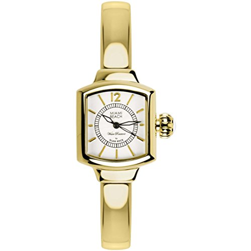 Glam Rock Miami Beach Art Deco Collection Femme Minéral Verre Montre MBD27217