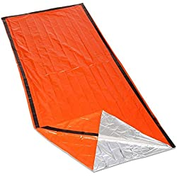 XZANTE Bolsa de Dormir de Supervivencia para emergencias fácil de Mantener Caliente Kit de Primeros Auxilios Apretado Bolsa Impermeable para Acampar