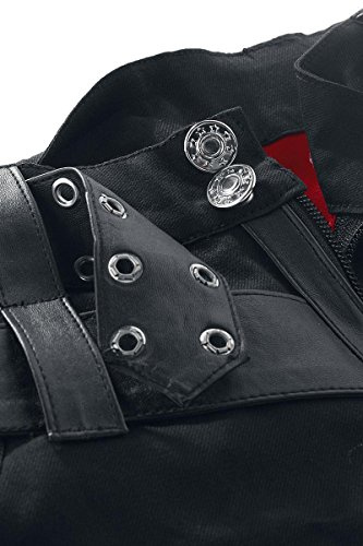 Heartless Clothing Shorts ASYLUM schwarz-rot Schwarz/Rot