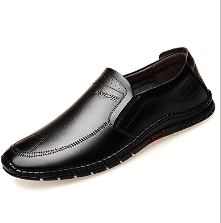Zapatos casuales para hombres, zapatos de cuero de negocios formales, zapatos casuales de negocios para hombres...