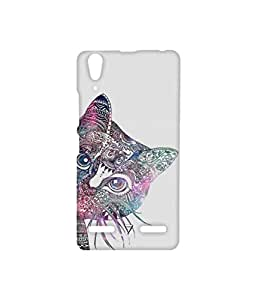 Vogueshell Ethnic Pattern Cat Printed Symmetry PRO Series Hard Back Case for Lenovo A6000