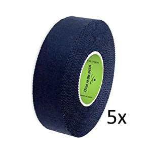 5X Renfrew Schlägertape Pro Cloth Hockey Tape schwarz 24mm f. Eishockey 45m