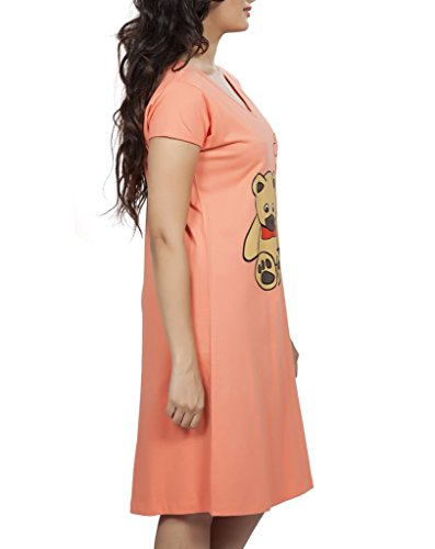 Clifton Women s Long Top Nightwear. This knee length long top style  provides you total ease and solace. The comfort of 180 GSM f9a9c85dd