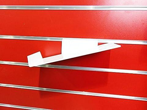 10x New Slatwall Slatboard Display Regal/Einlegeböden mehrere Größe und Packungen: Schuh, Taschen WHITE RIGHT
