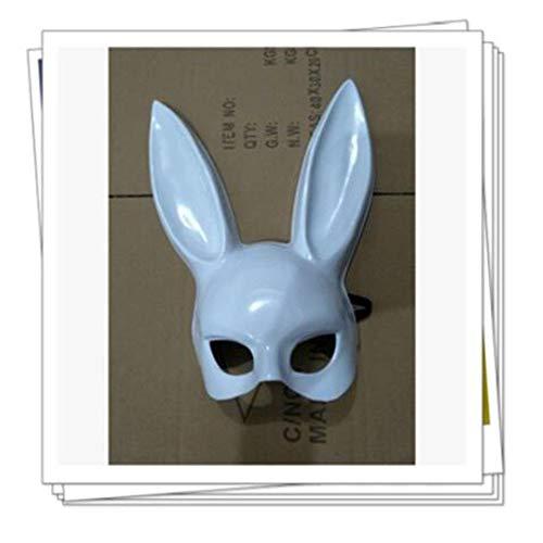 ZHANGXLMM Halloween Maskerade Bunny Ohrmaske Bar KTV Party Bunny Maske Niedliche Kaninchen Maske,Grey