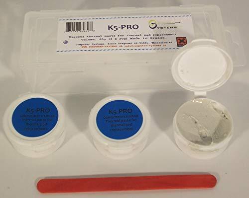 K5-PRO pâte thermique visqueuse thermique de remplacement des plaquettes 60g 3x20g (un produit compatible avec: Apple iMac, Sony PS4 et PS3, XBOX, Acer Aspire etc)