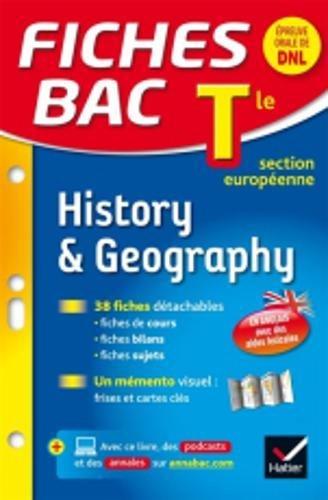 Fiches bac History & Geography Tle section européenne: fiches de révision Terminale section européenne par Cécile Gaillard