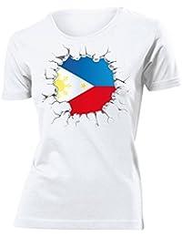 FUSSBALL - FANARTIKEL - Philippinen T-Shirt Damen Gr.S bis XXL