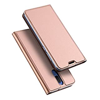 DUX DUCIS Huawei Mate 10 Lite Hülle, Skin Pro Series Ultra Slim Layered Dandy, Ständer, Magnetverschluss,TPU Bumper, Full Body Schutz für Huawei Mate 10 Lite (Rose Golden)