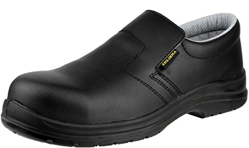 Amblers Safety Mens FS661 Slip On Waterproof Safety Shoes Black Black