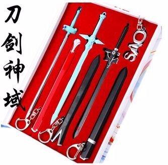 sao-sword-art-online-cosplay-anime-conjunto-de-elementos-3-espadas-pieza-y-caso