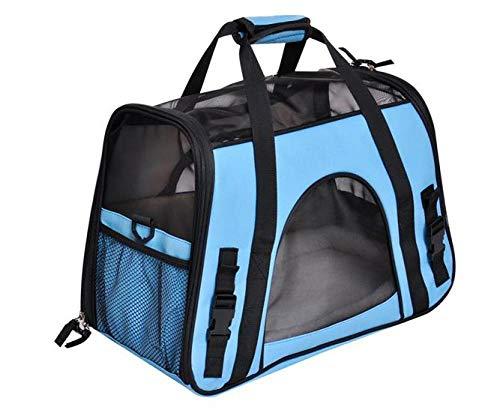 FZKJJXJL Pet Luxury Soft-Sided Cat Carrier Tragbare Hundehütte Für Katzen Kleine Hunde Und Welpen,Blue -