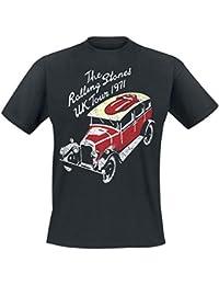 Rolling Stones The UK Tour 1971 Camiseta Negro