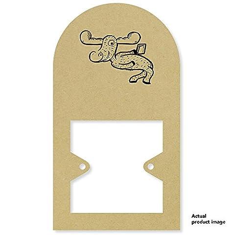 'Cartoon Moose' Tall Light Switch Plate / Surround (LS00021636)