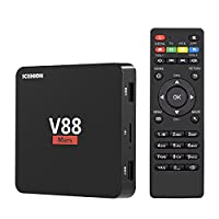 YAGALA V88 Mars Android 7.1 TV Box with 1GB/8GB Rockchip RK3229 Quad Core Mini tv box support 4K DLNA 3D H.265 2.4GHz Wifi HDMI