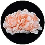 TOPQUEEN Blume Haar-Accessoires Braut Haarkamm Hochzeit Haarschmuck Tiara Diadem, Schmetterlinge (Baby Rosa)
