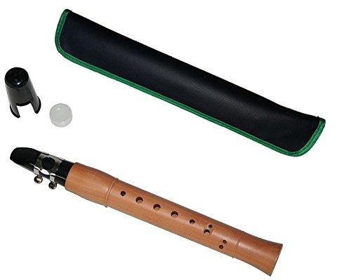 Karl Glaser Taschensaxophon inkl. Etui und Blatt, C-Stimmung, Ahorn
