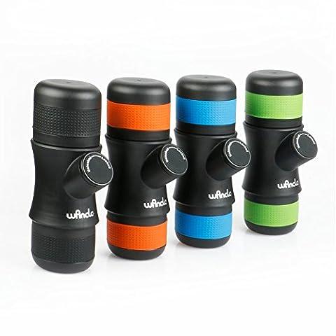 Wancle Mini beweglicher Espresso-Hersteller-Maschine-Kaffeemaschine-Spielraum für Camping + 3 Farben-Silikon-Kasten