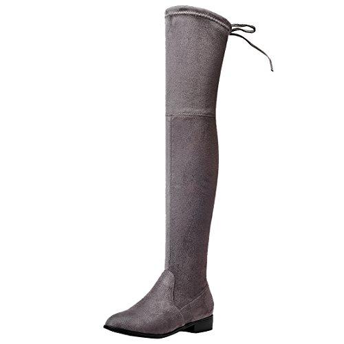 AIYOUMEI , Bottes classiques femme gris foncé