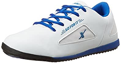 Sparx Men's White and Royal Blue Running Shoes - 10 UK (SX0184G)