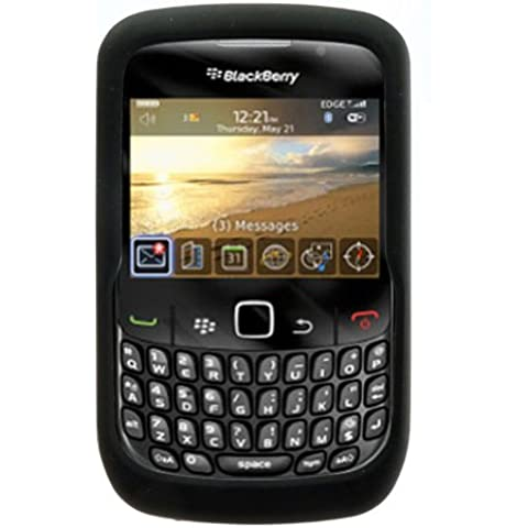 Custodia di silicone (nero) per BLACKBERRY 8520