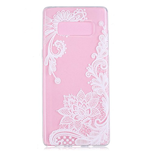 Cozy Hut Samsung Galaxy Note 8 Hülle, Ultra Thin Tasche Cover TPU Silikon Handyhülle Stoßfest Case Schutzhülle Shock Absorption Backcover Hüllen für Samsung Galaxy Note 8 - Bauhinia Blume