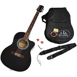 Guitarra acústica - ts-ideen - en color negro