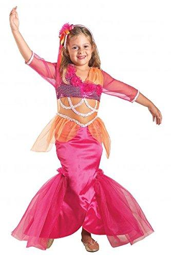 Premium Meerjungfrau-Kostüm für Mädchen mit Tiara | Hochwertiges Karnevals-Kostüm / Faschings-Kostüm / Kinderkostüm | Perfekte Nixe Mermaid Verkleidung für Karneval, Fasching, Fastnacht (Größe: 128) (Mermaid Schwanz Halloween Kostüme)