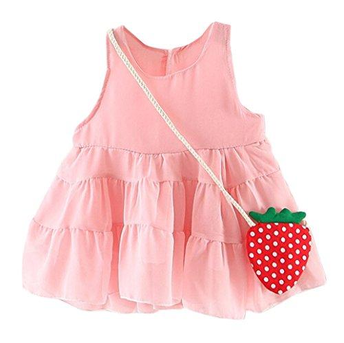 Trada Kleinkind Mädchen Sommer Sleeveless Erdbeer Prinzessin Party Hochzeitskleid Baby Kleider...