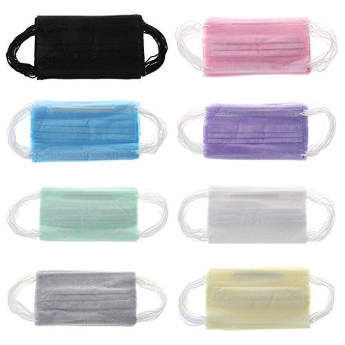 Celan Einweg-Masken für medizinische Chirurgenstaub, Ohrschlaufen, Unisex, 20 Stück, grün