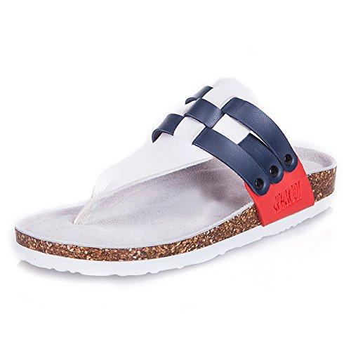 Pente avec sandales à talons hauts à bascule --- Chaussons de liège Couple Chaussures de plage pour femme Chaussures de tissage 2 couleurs --- Herringbone fashion sweet Sandals 1001